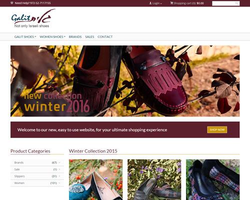 בניית אתר וורדפרס לנעלי גלית
