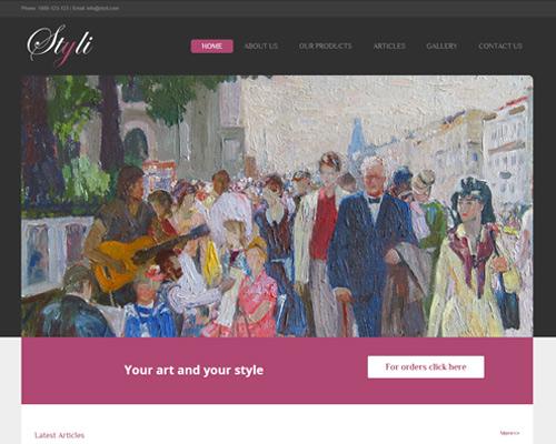 אתר וורדפרס בזול תבנית STYLI באנגלית